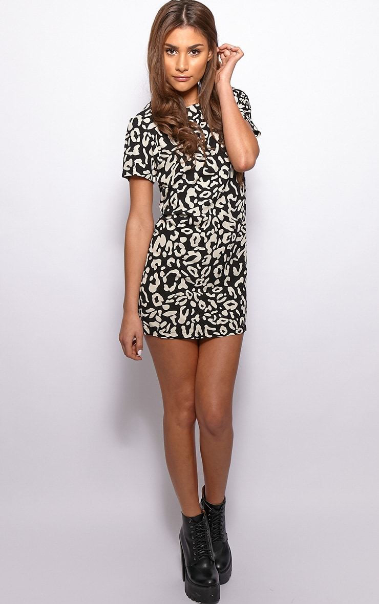 Cherie Leopard Print Shift Dress 3