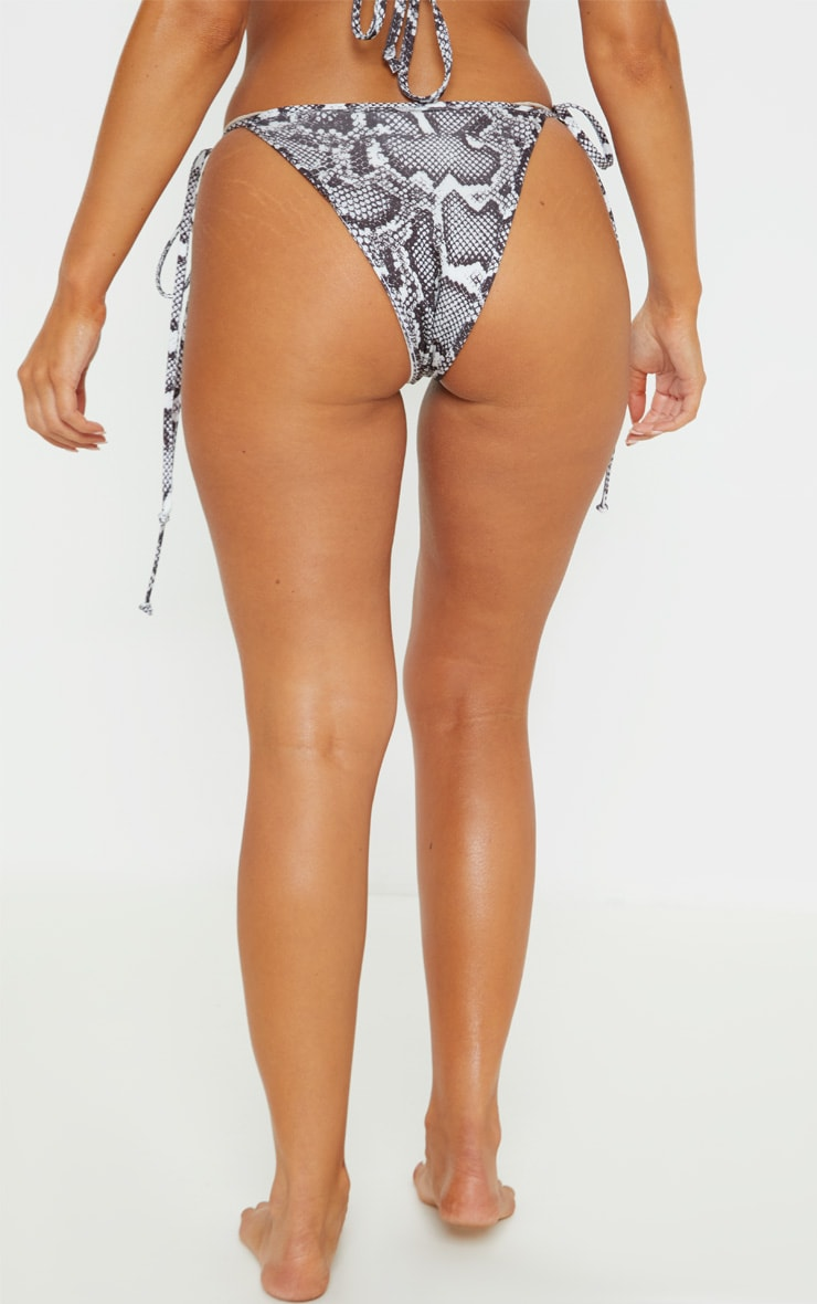 Snake Mix & Match Tie Side Bikini Bottom 4