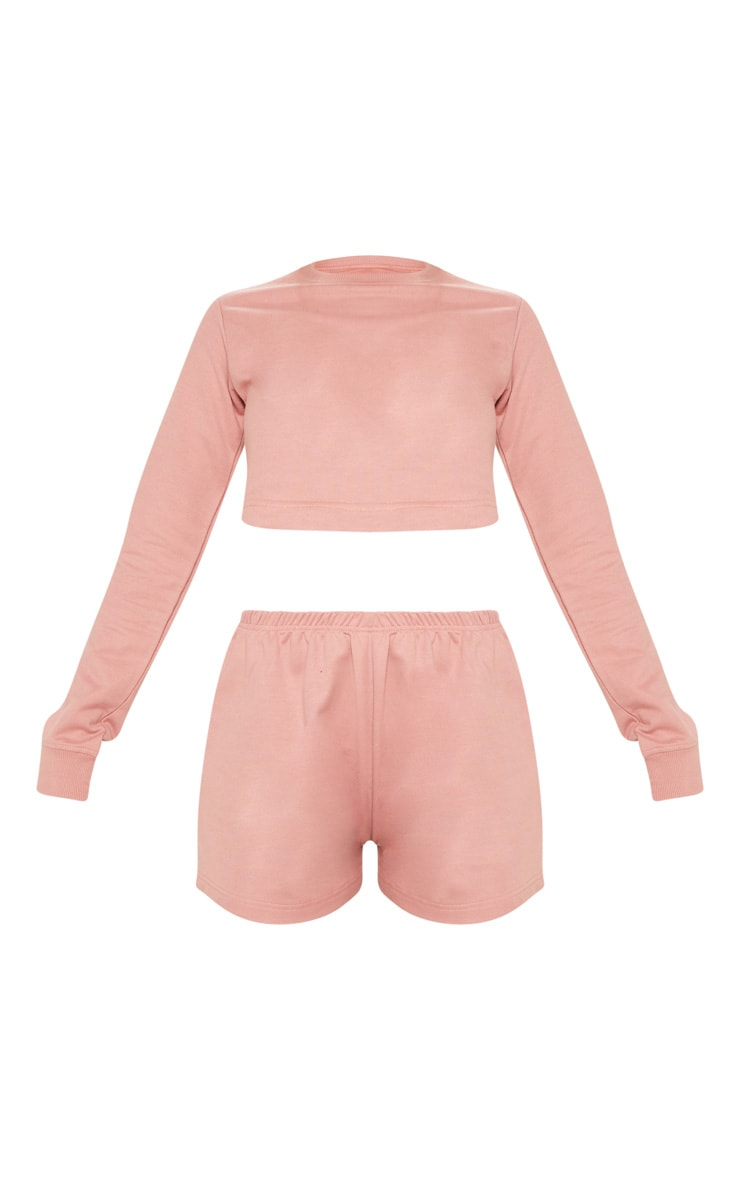 Rose Cropped Sweat PJ Set 3