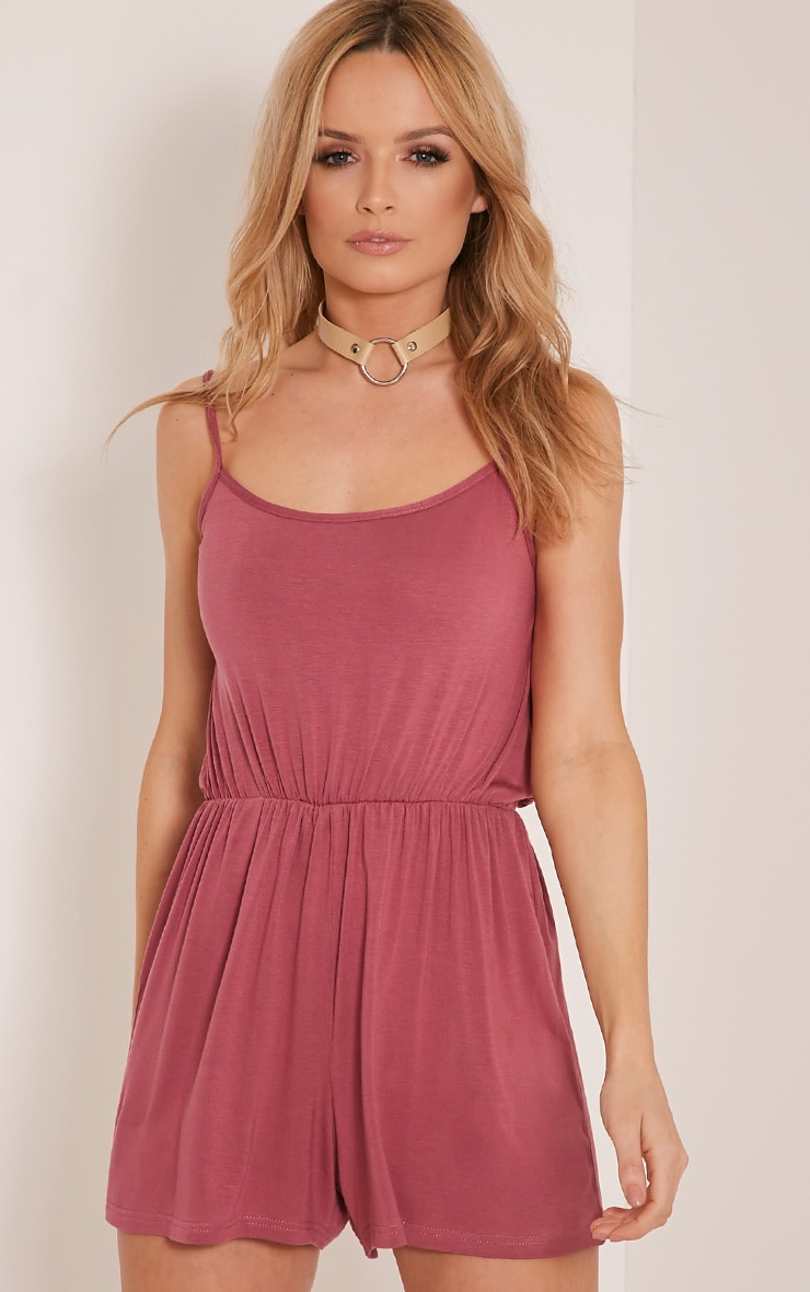 Tallea Rose Strappy Back Playsuit 1