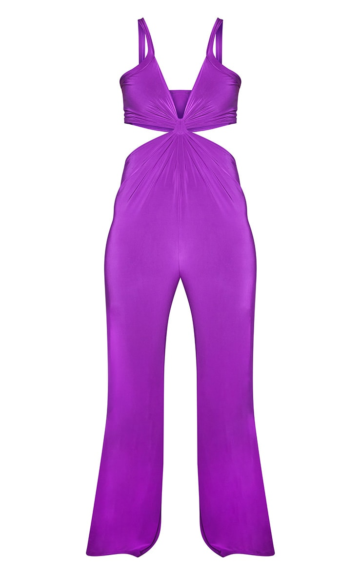 Plus Purple Cut Out Jumpsuit 3