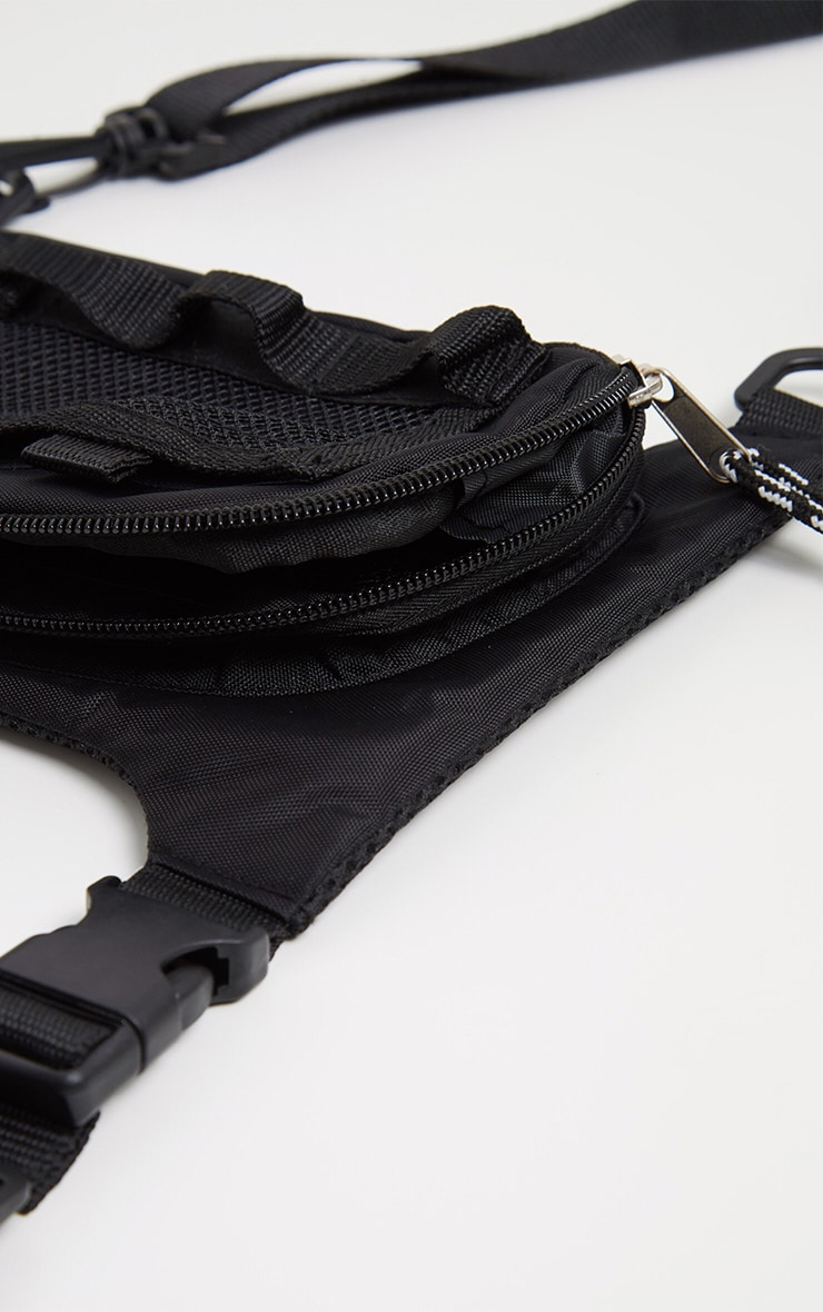 Black Nylon Mini Front Bag 3