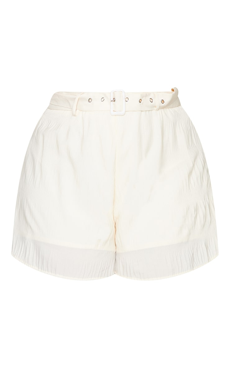 Plus Stone Textured Plisse Floaty Shorts 6