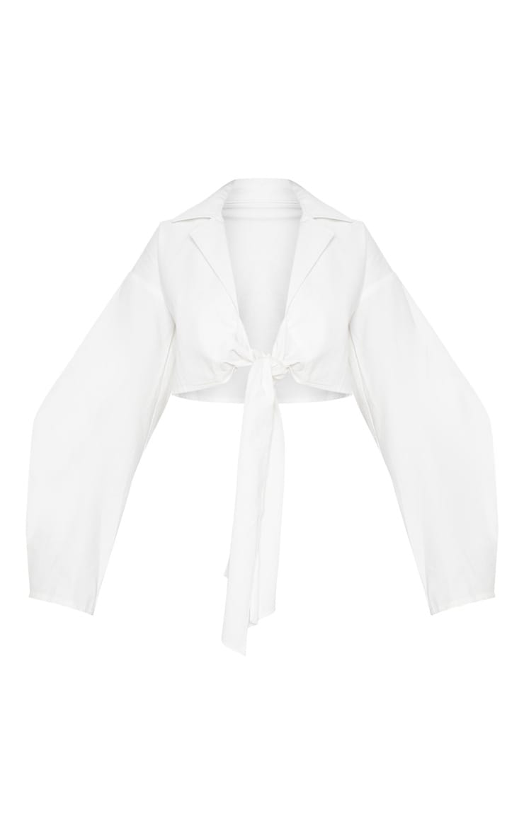 White Tie Front Blouse 3