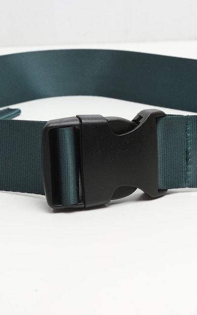Petrol Blue Slider Buckle Tape Belt