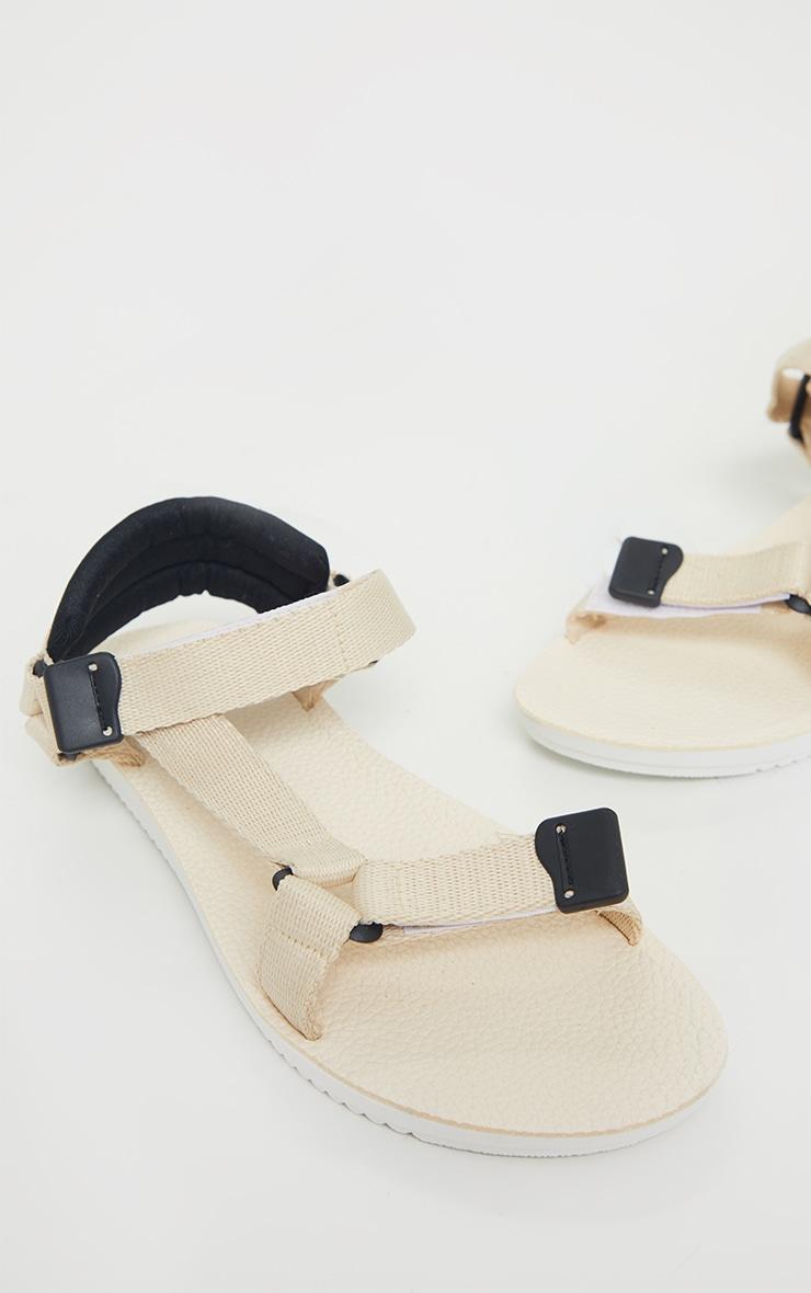 Cream Velcro Strap Sandals 3