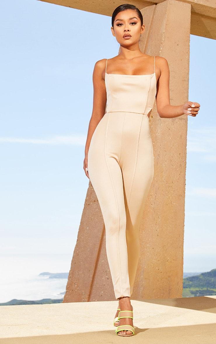 Nude Second Skin Cut Out Side Jumpsuit 4