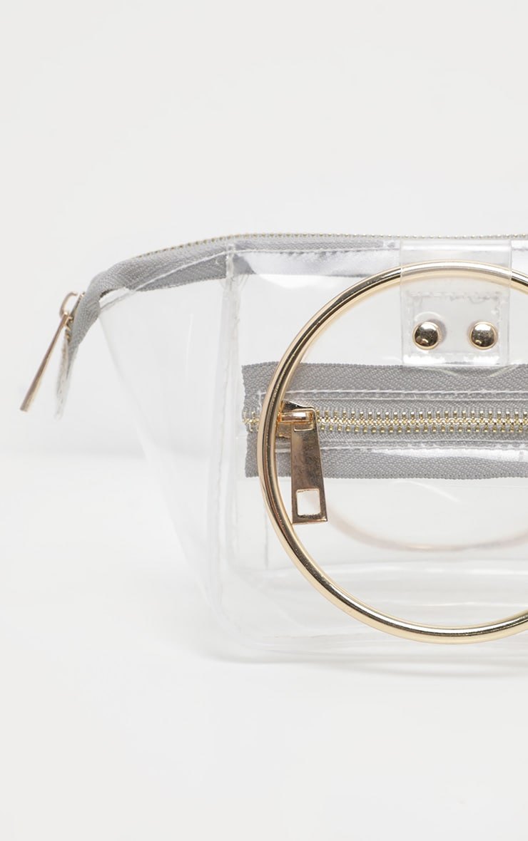 Clear With White Resin Circle Handle Mini Bag 3