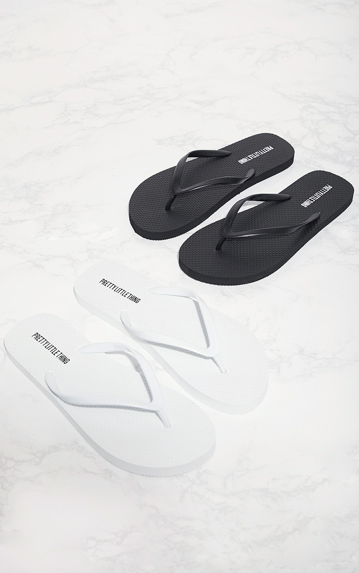 Black & White Flip Flops 2 Pack  1