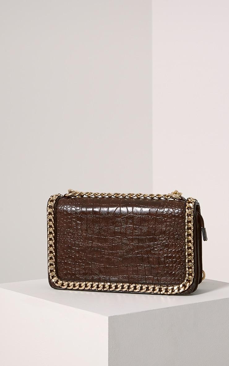 Ophelia Mocha Chain Detail Bag 5