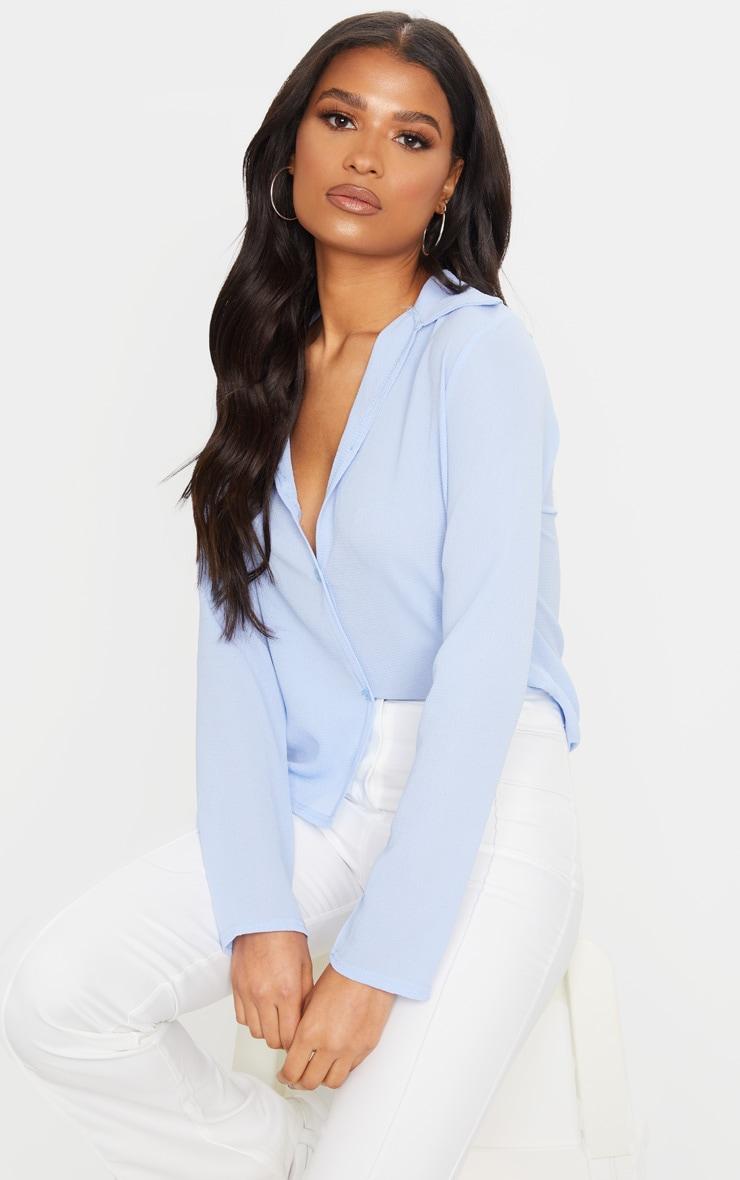 Baby Blue Chiffon Shirt 1