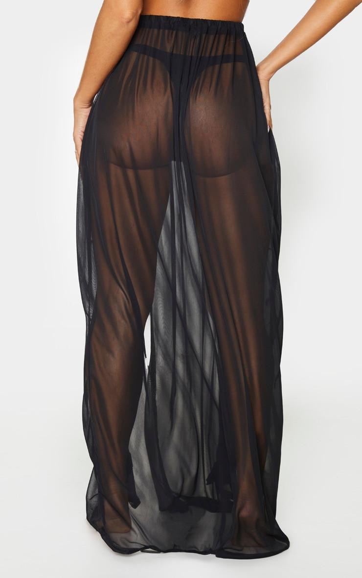 Black Frill Split Maxi Skirt 3