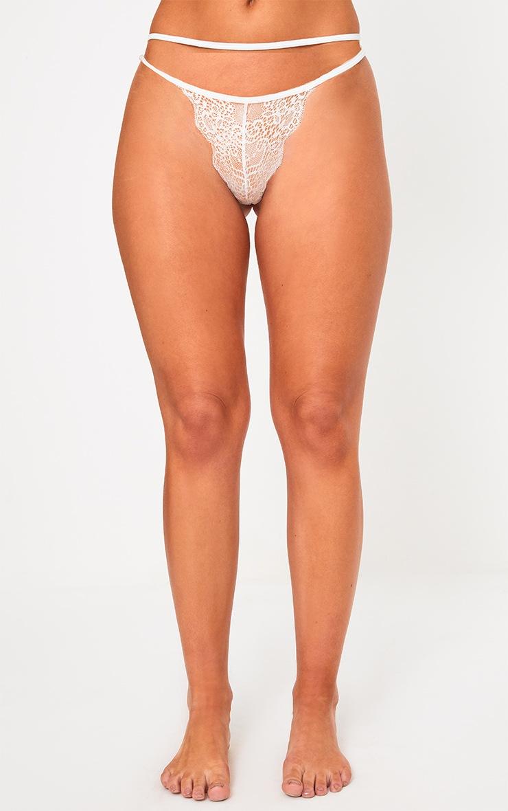 White Lace Shoulder Detail Lingerie Set 4