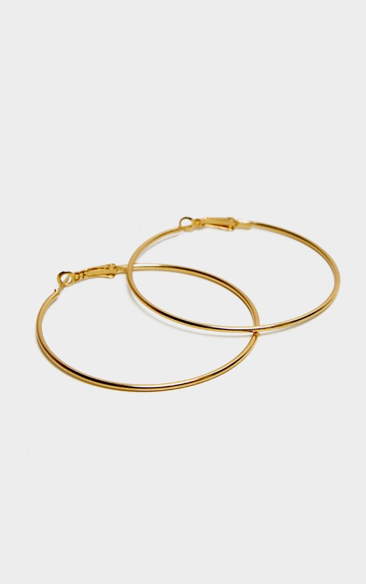 Gold Large Tubular Earrings 2