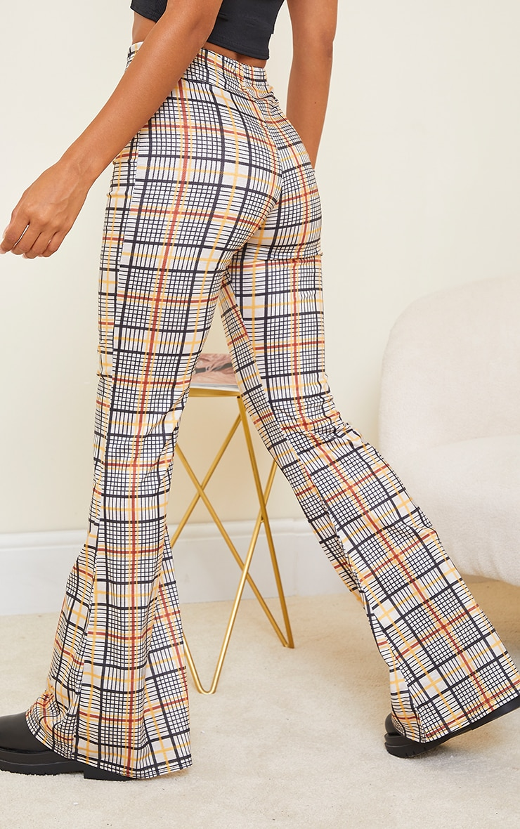 Stone Check Flared Pant 3