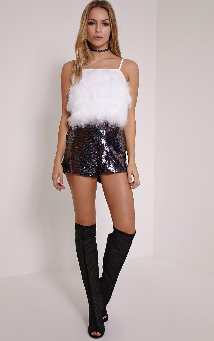 River Purple Sequin Hotpants 1