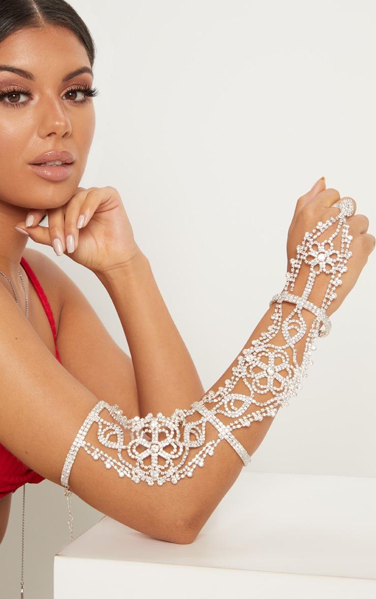 Silver Diamante Arm Cuff 1