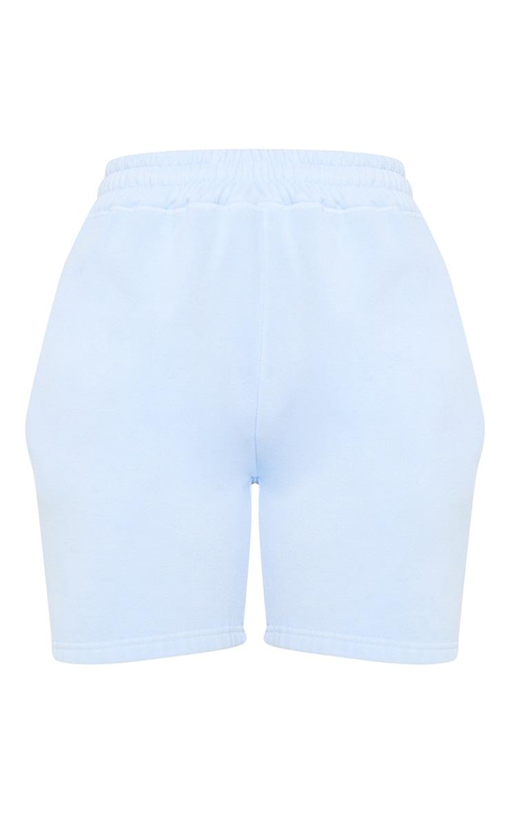 Dusty Blue Washed Sweat Short 6