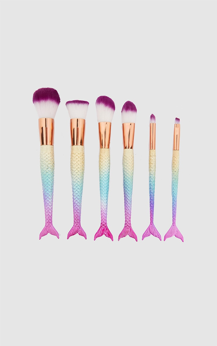 Rainbow 6 Pack Make Up Brushes 1