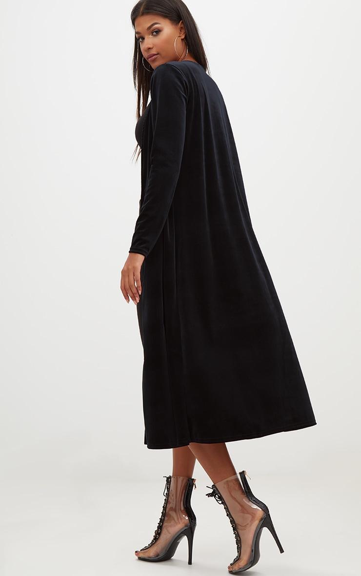 Black Velvet Longline Kimono 2