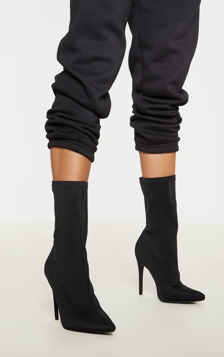 Black Lycra Sock Boot 1