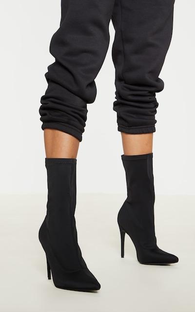 ac5b570cbd5 Black Lycra Sock Boot