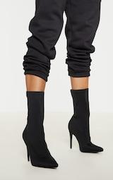 Black Lycra Sock Boot 1