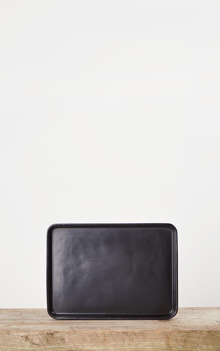 Matte Black Decorative Tray Small 3