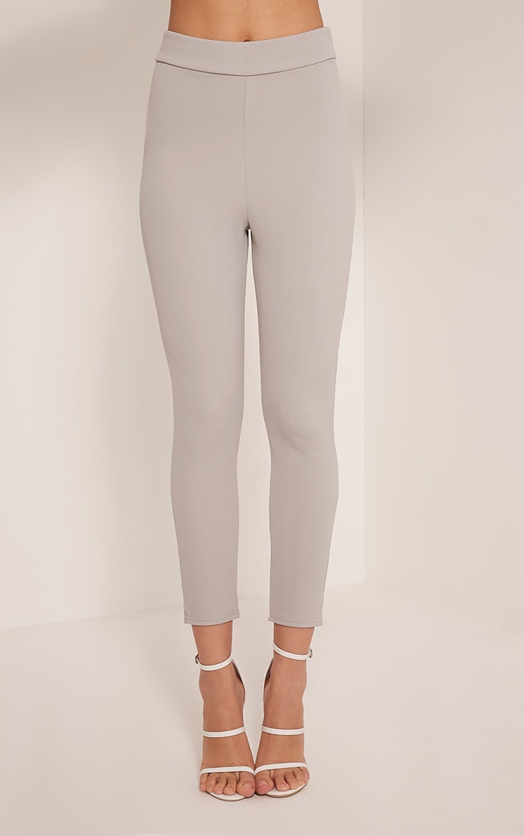 Evalyn Grey Cropped Trousers 2