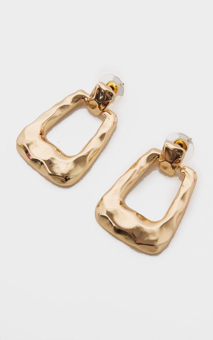 Gold Hammered Small Door Knockers 1