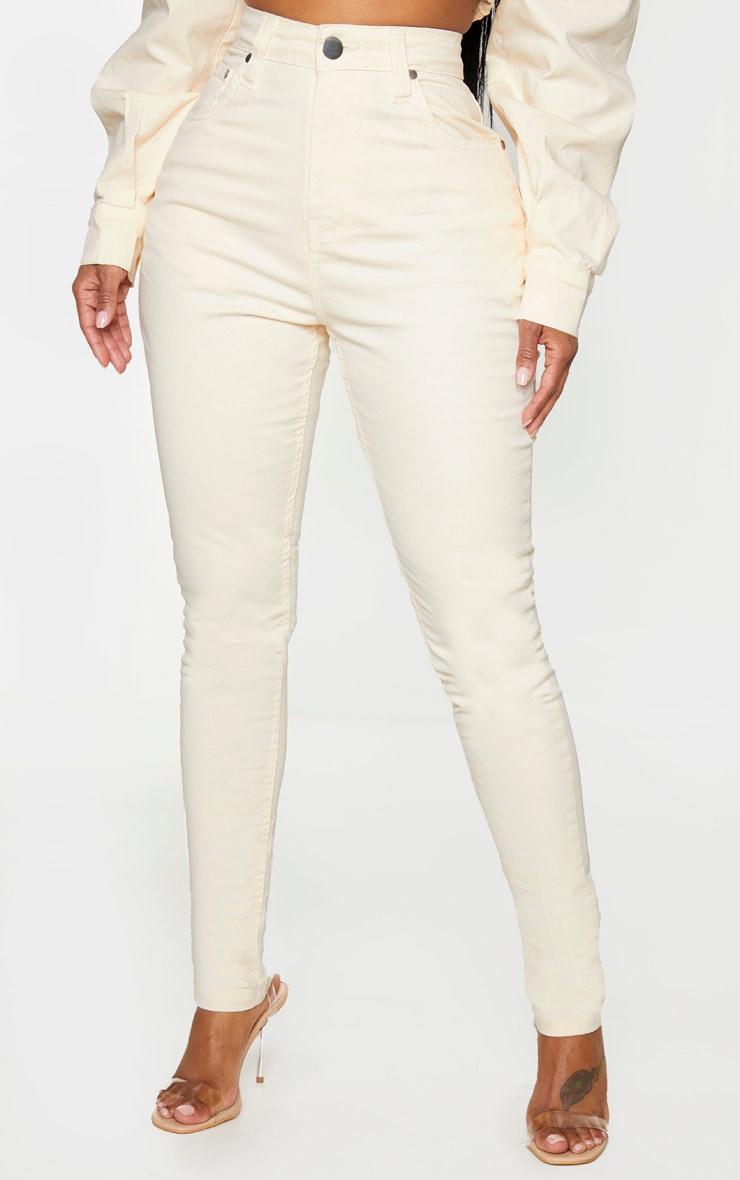 Shape Ecru High Waisted Skinny Jeans 2