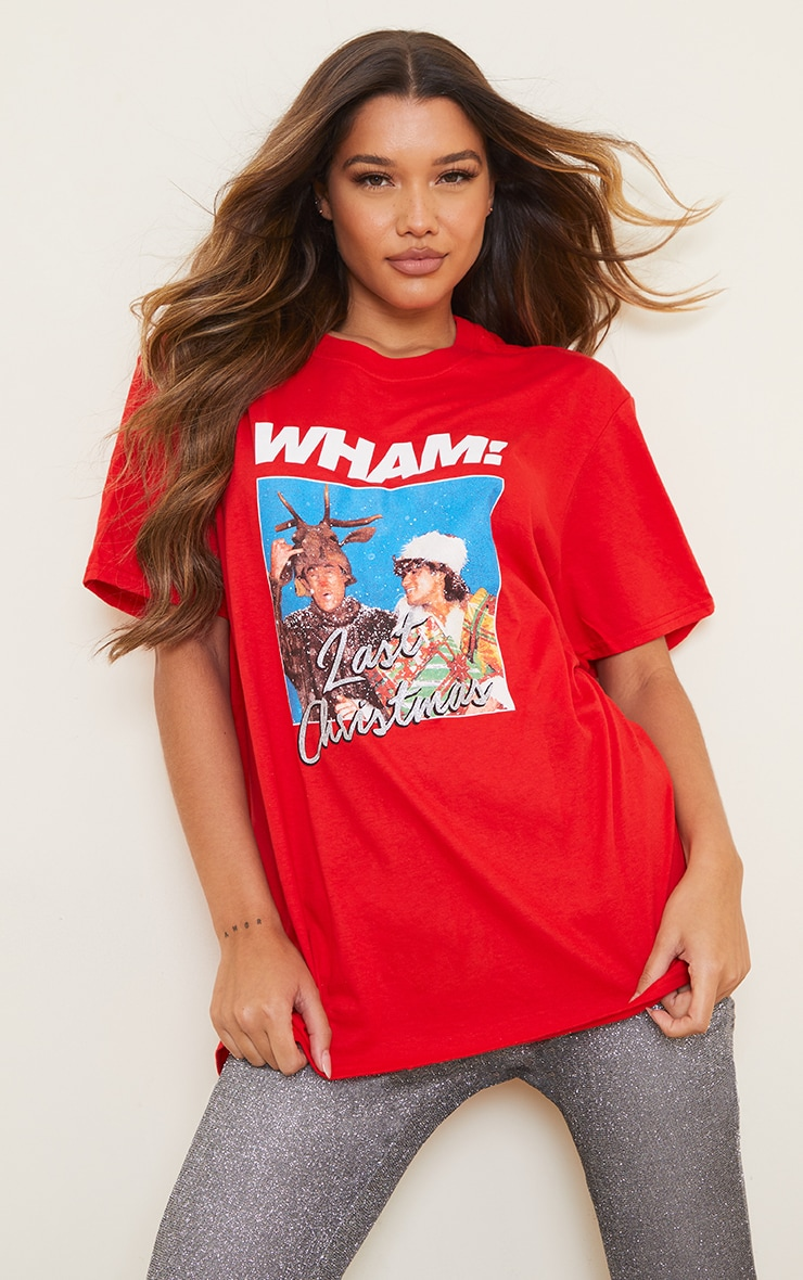 Red Wham Last Christmas Printed T Shirt 1