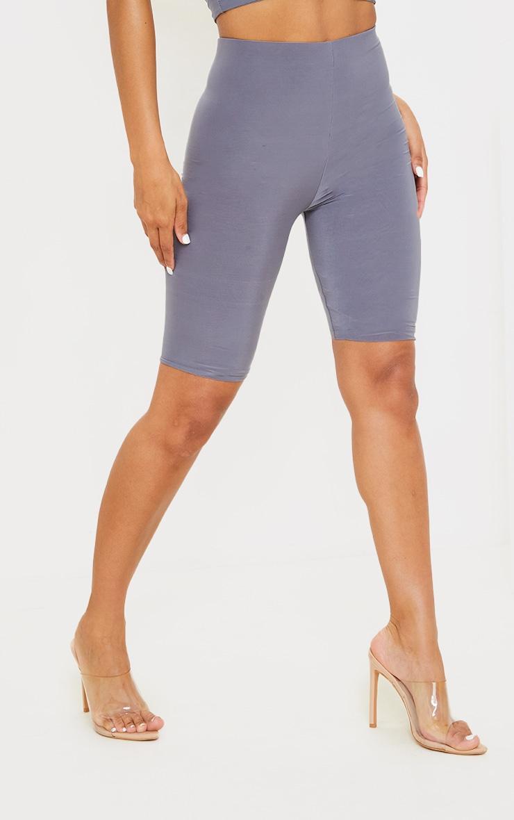 Grey Slinky Longline Bike Short 2