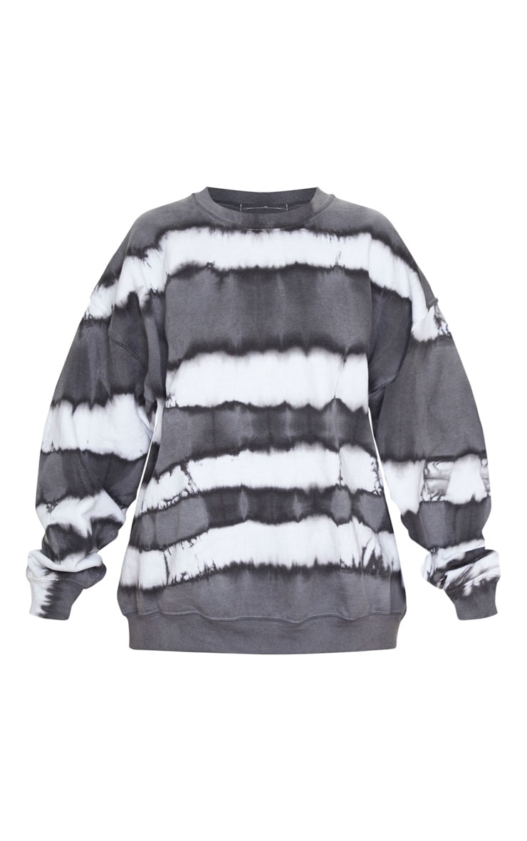 Grey Oversized Tie Dye Sweatshirt 4