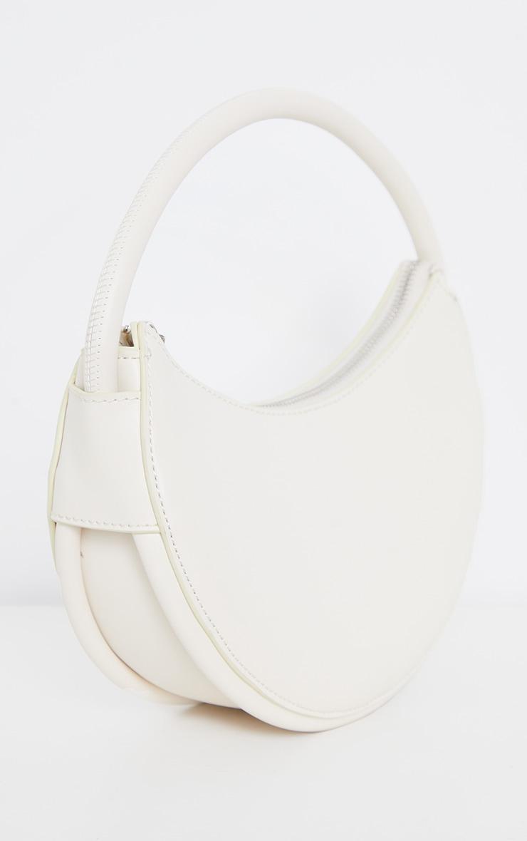 Cream Crescent Shoulder Bag 3