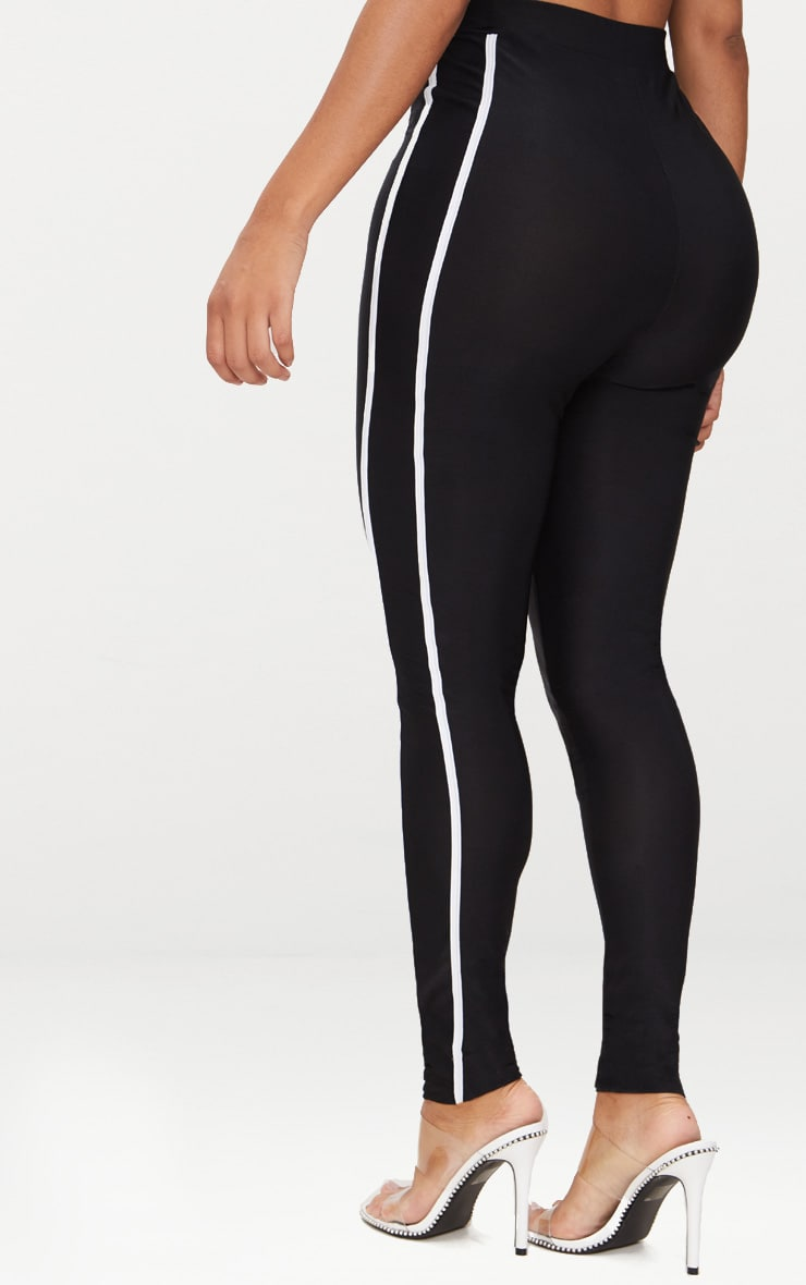 Shape Black Sports Stripe High Waisted Leggings 4