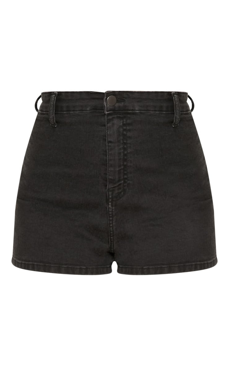 Washed Black Disco Short  4