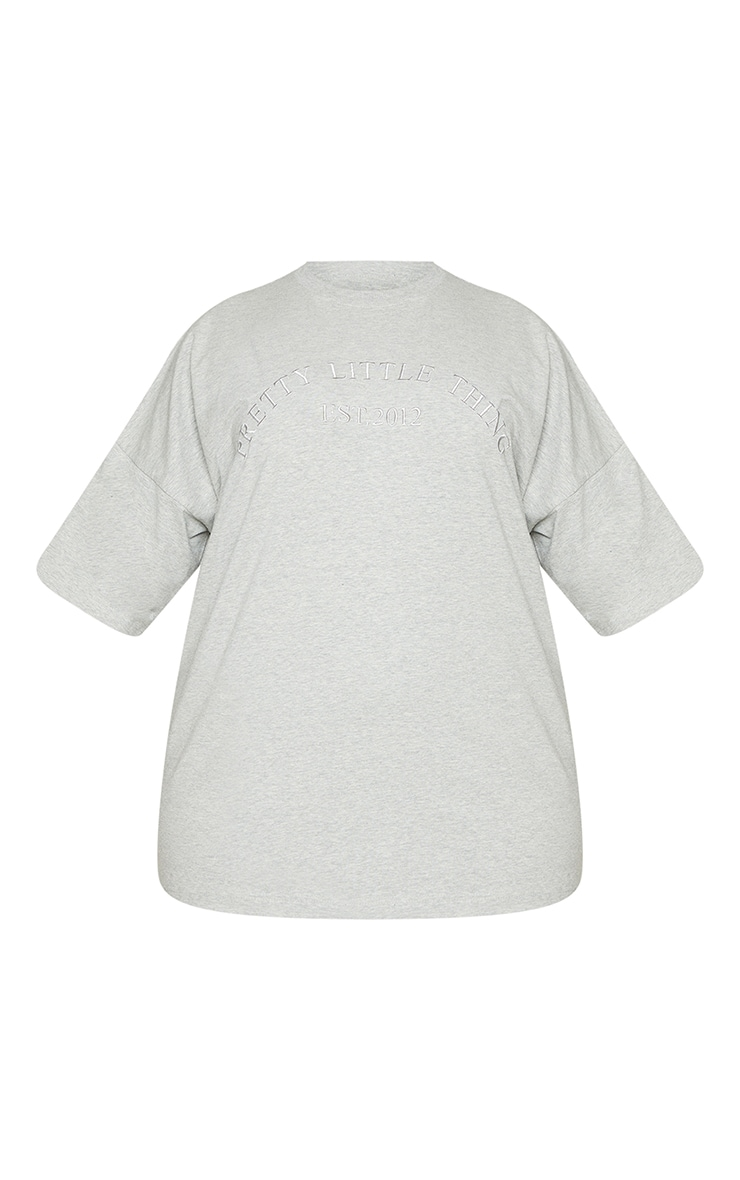 Plus Grey Embroidered Oversized Tshirt 5