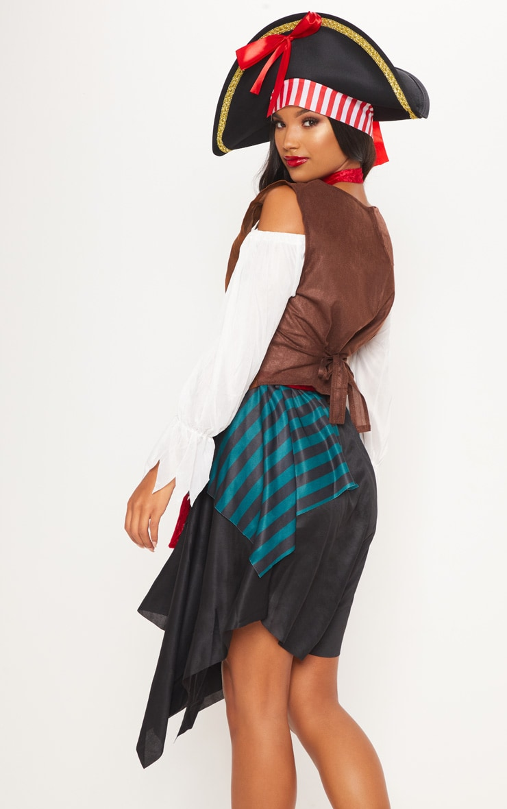 Pirate Lady Halloween Fancy Dress Outfit 2