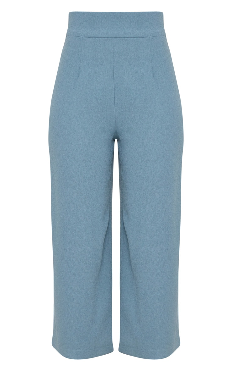 Dusty Blue High Waisted Culottes  3