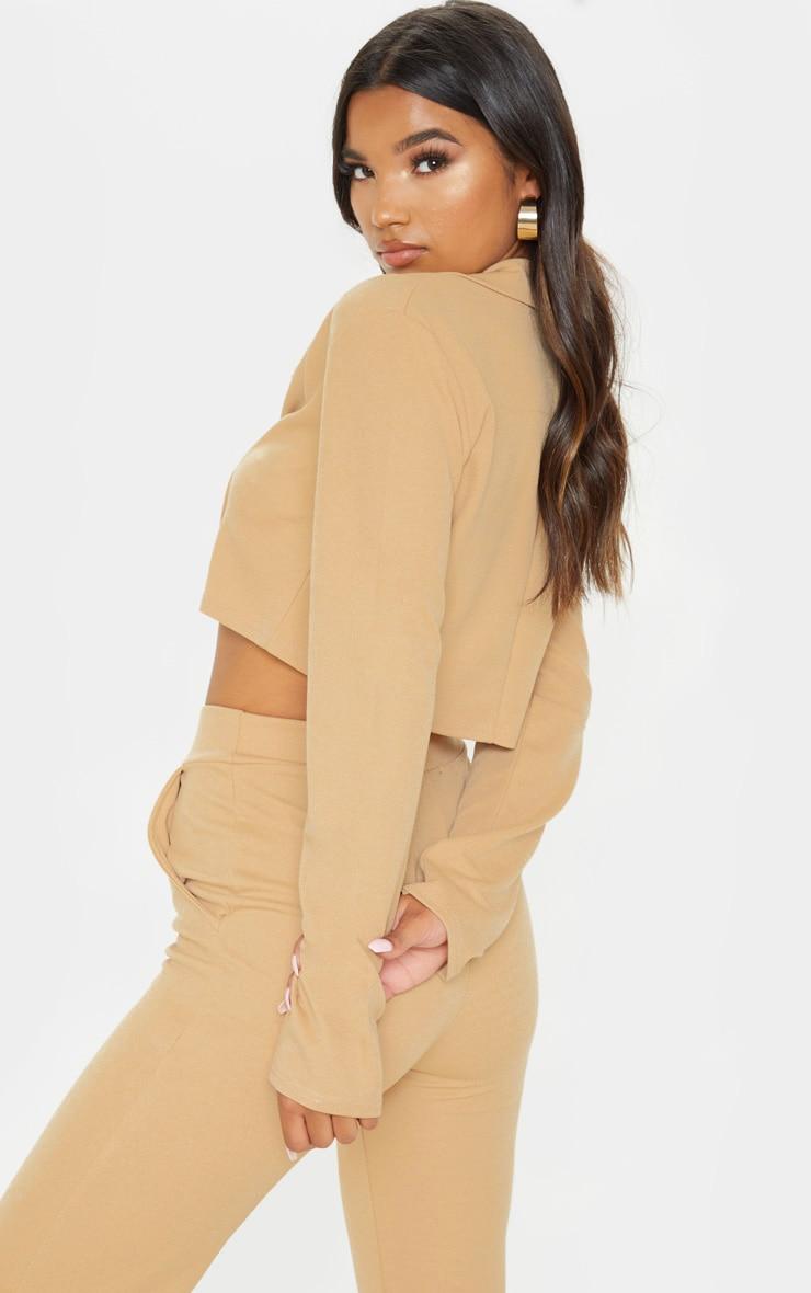 Stone Cropped Suit Blazer  2
