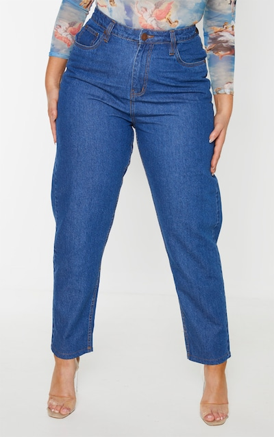 Plus Mid Blue Wash Straight Leg Jean