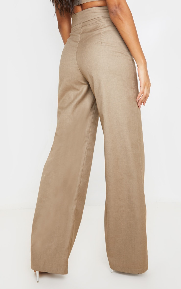 Stone Woven Extreme High Waist Wide Leg Trousers 4