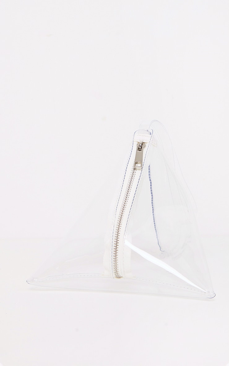 Clear Triangular Mini Pouch 2