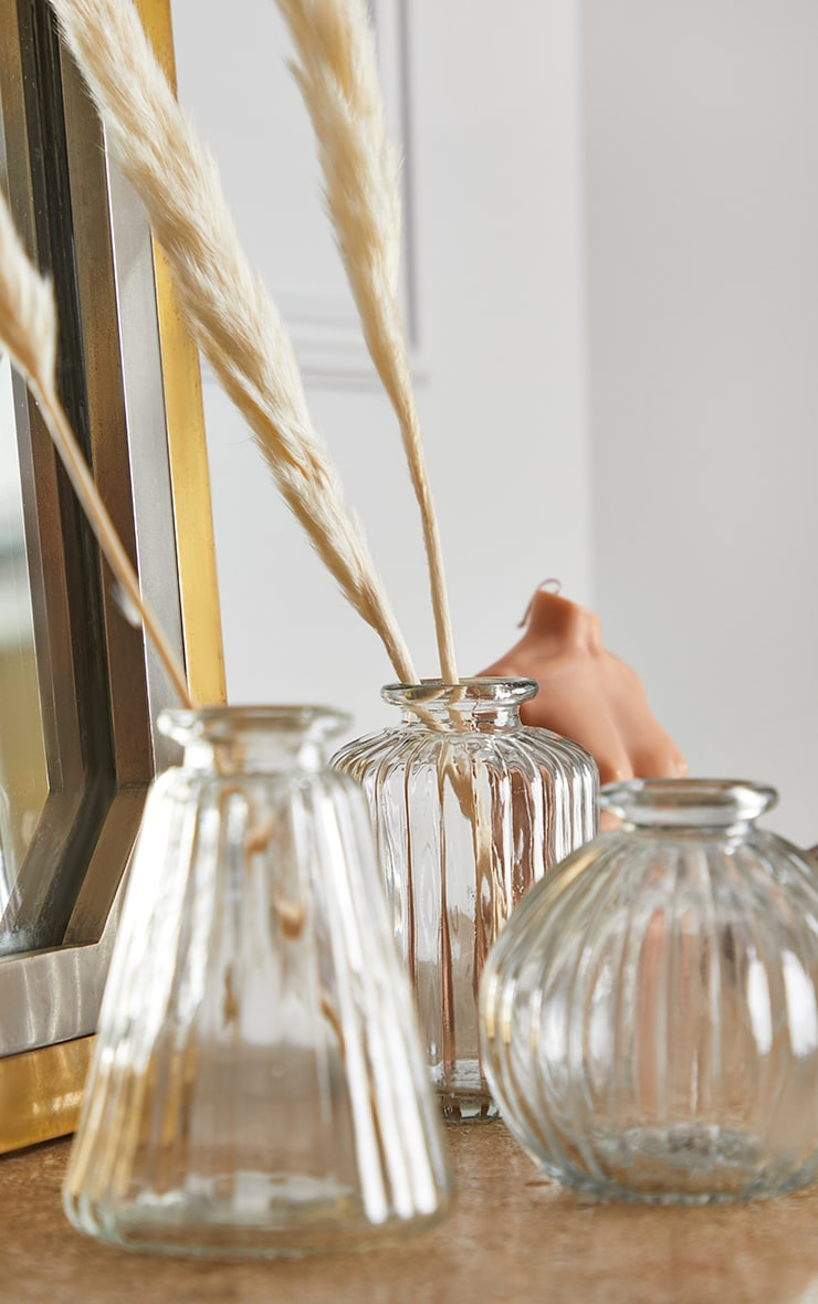 Plain Glass Bud Vases 3 Pack 1