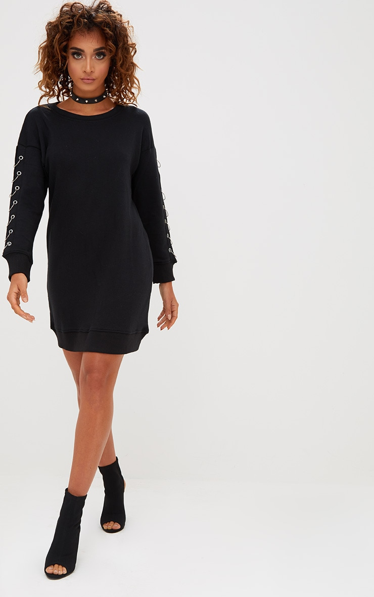 top-rated official beauty special buy Black Ring Detail Jumper Dress