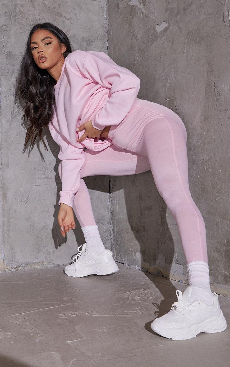 Baby Pink Basic Leggings 1