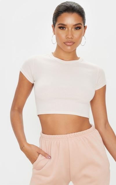 Blush Rib Crop T Shirt