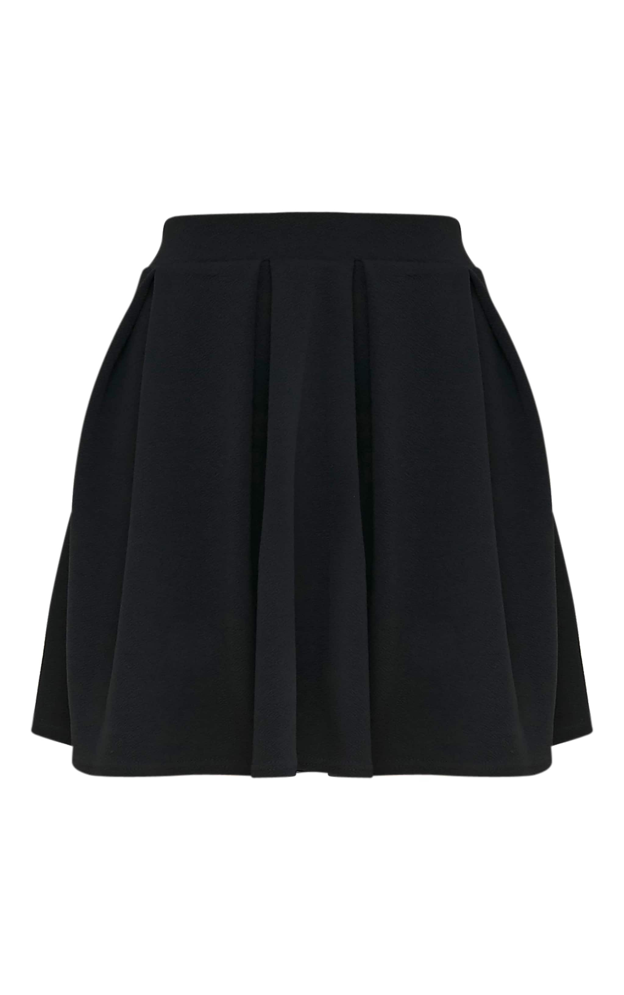 Tyra Black Box Pleat Full Mini Skirt 3