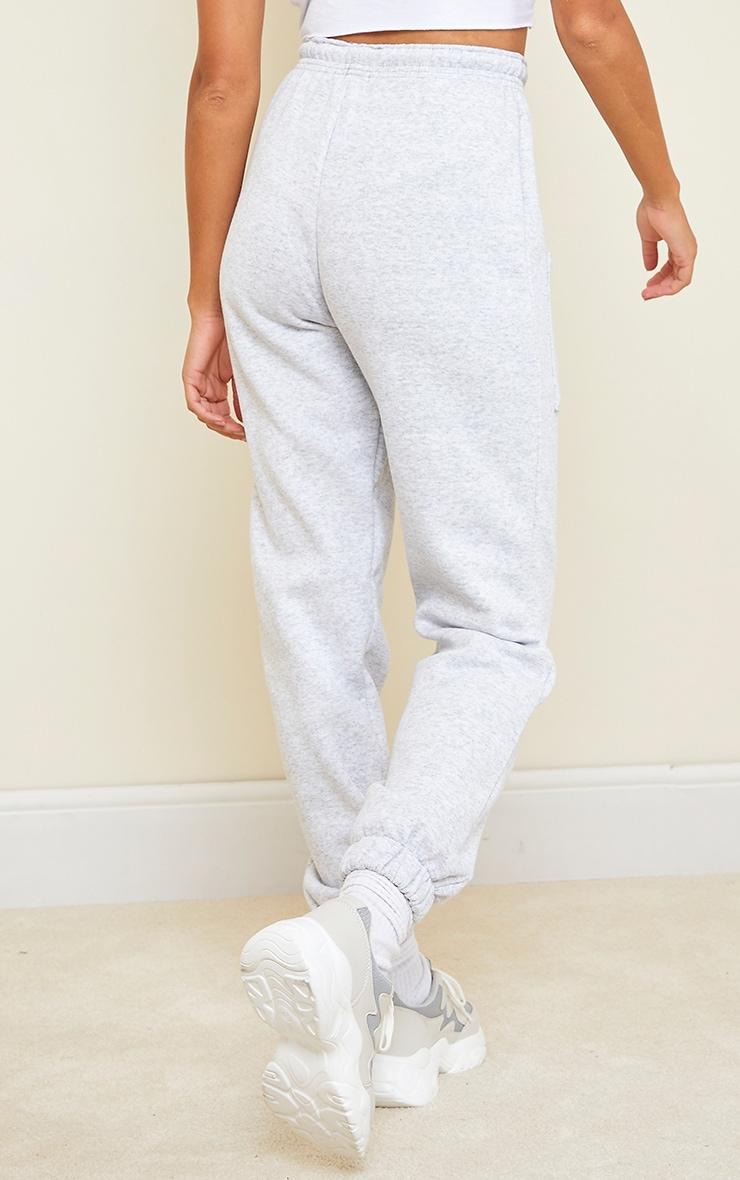 Jogging casual gris cendré clair à poches sur les cuisses 3